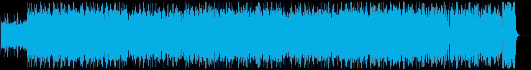 緊迫感漂うロック調なテクノの再生済みの波形
