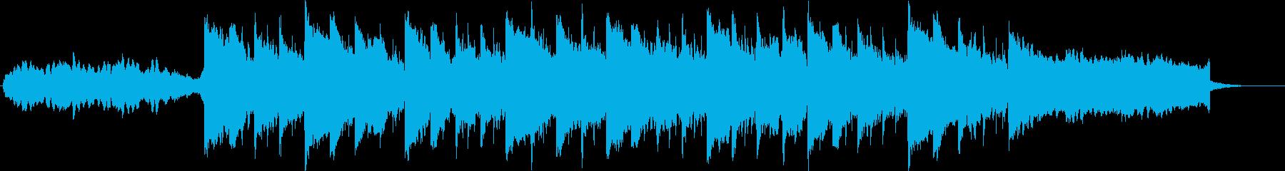 幻想的・未来的なインスピレーションBGMの再生済みの波形