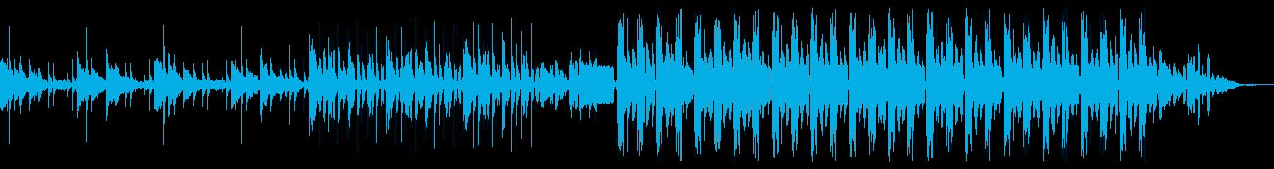 オシャレな雰囲気のハウスミュージックの再生済みの波形