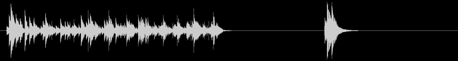 ベル-2つの効果。ミディアムピッチ...の未再生の波形