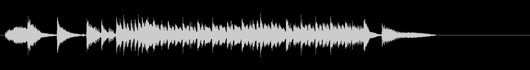 テーマ4A:ドラム、バス、ピアノの未再生の波形