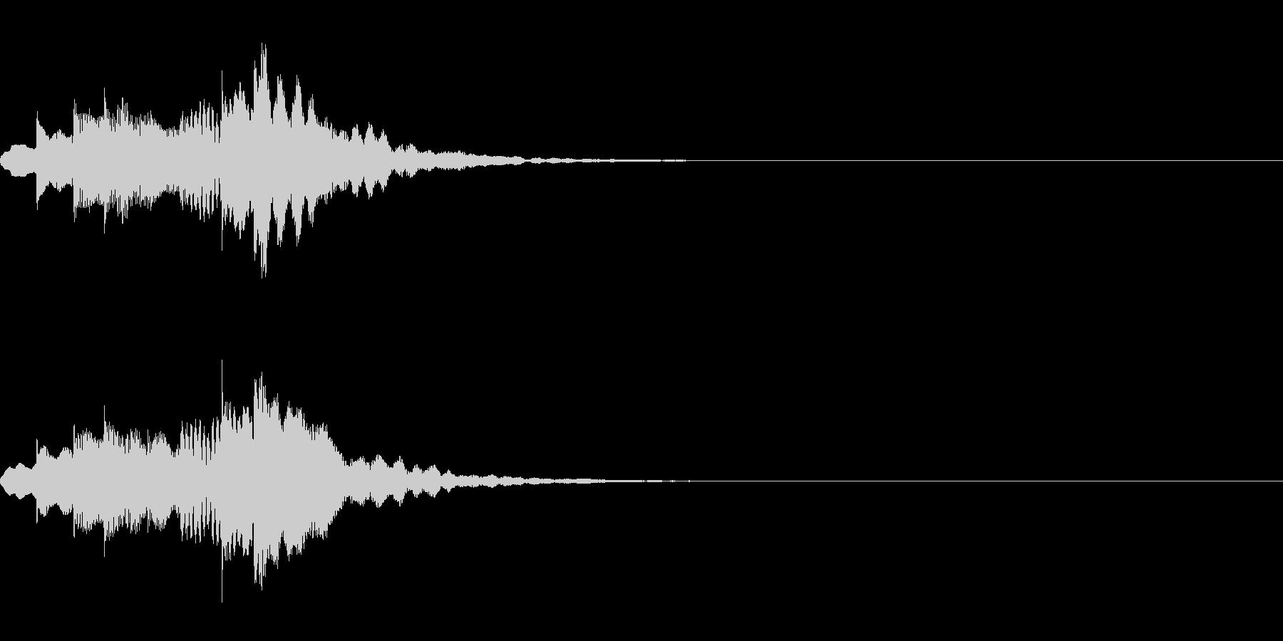 注意喚起を促す効果音・メジャー系の未再生の波形