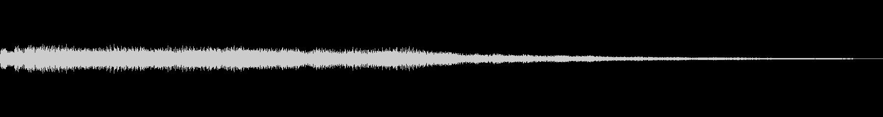 明るいベルのジングルの未再生の波形
