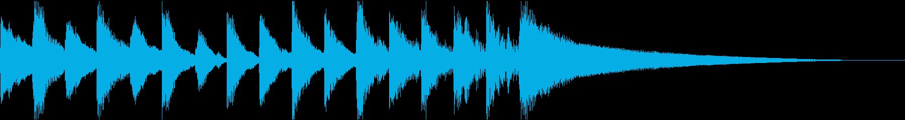 ポップフォーク楽器。弾む、気まぐれ...の再生済みの波形