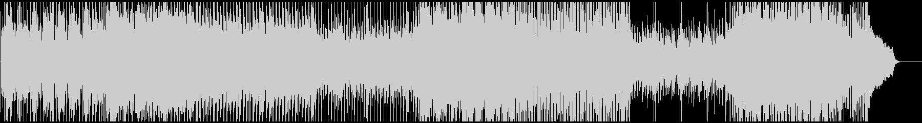 シンプルな8ビートの軽く爽やかなBGMの未再生の波形