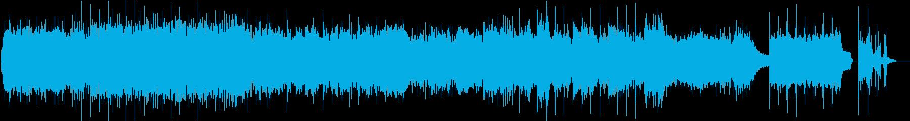 前進するイメージの3拍子のエレクトロニカの再生済みの波形