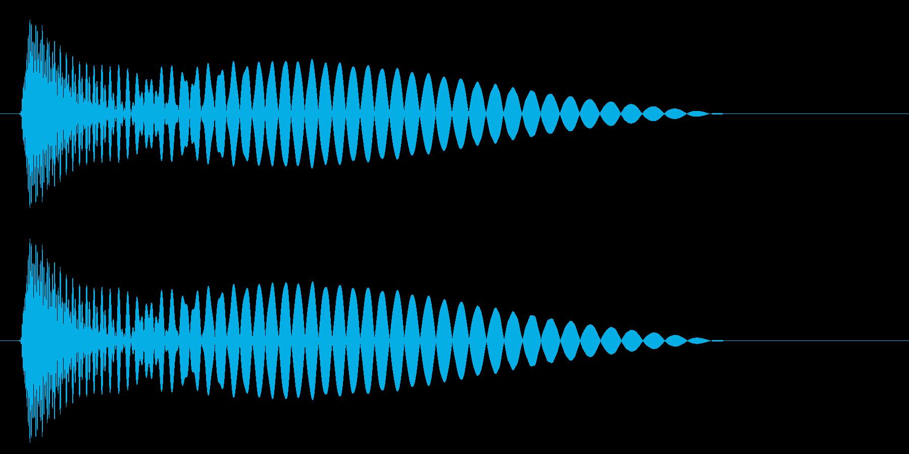 ポン(かわいい音色)の再生済みの波形