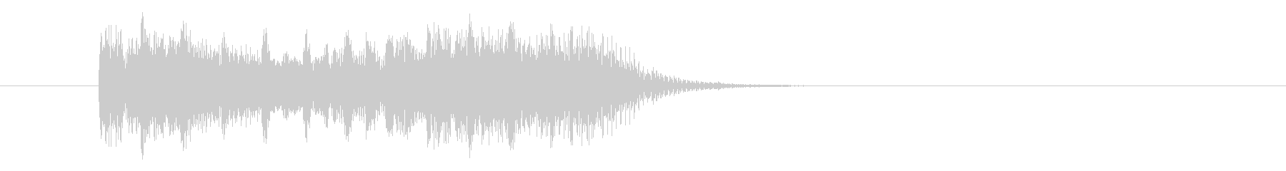 激しく疾走感のあるシンセテクノ(短め)の未再生の波形