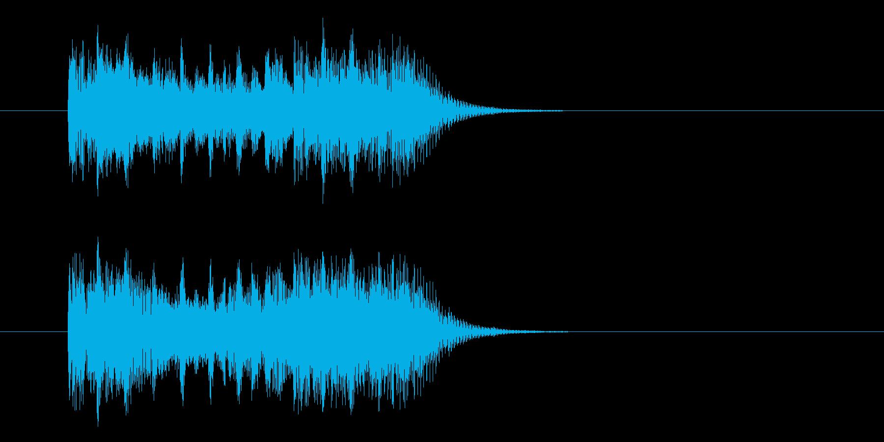 激しく疾走感のあるシンセテクノ(短め)の再生済みの波形
