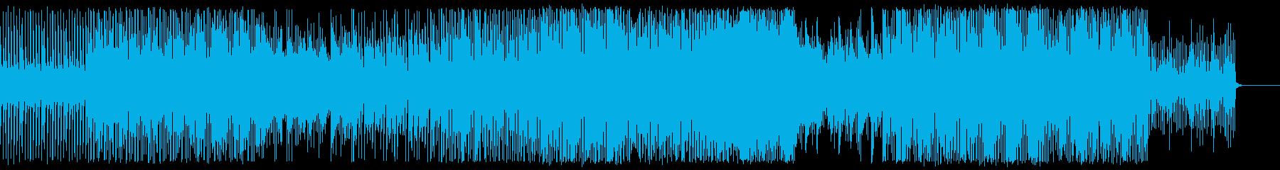 ファンキーディスコ風ダンストラックの再生済みの波形