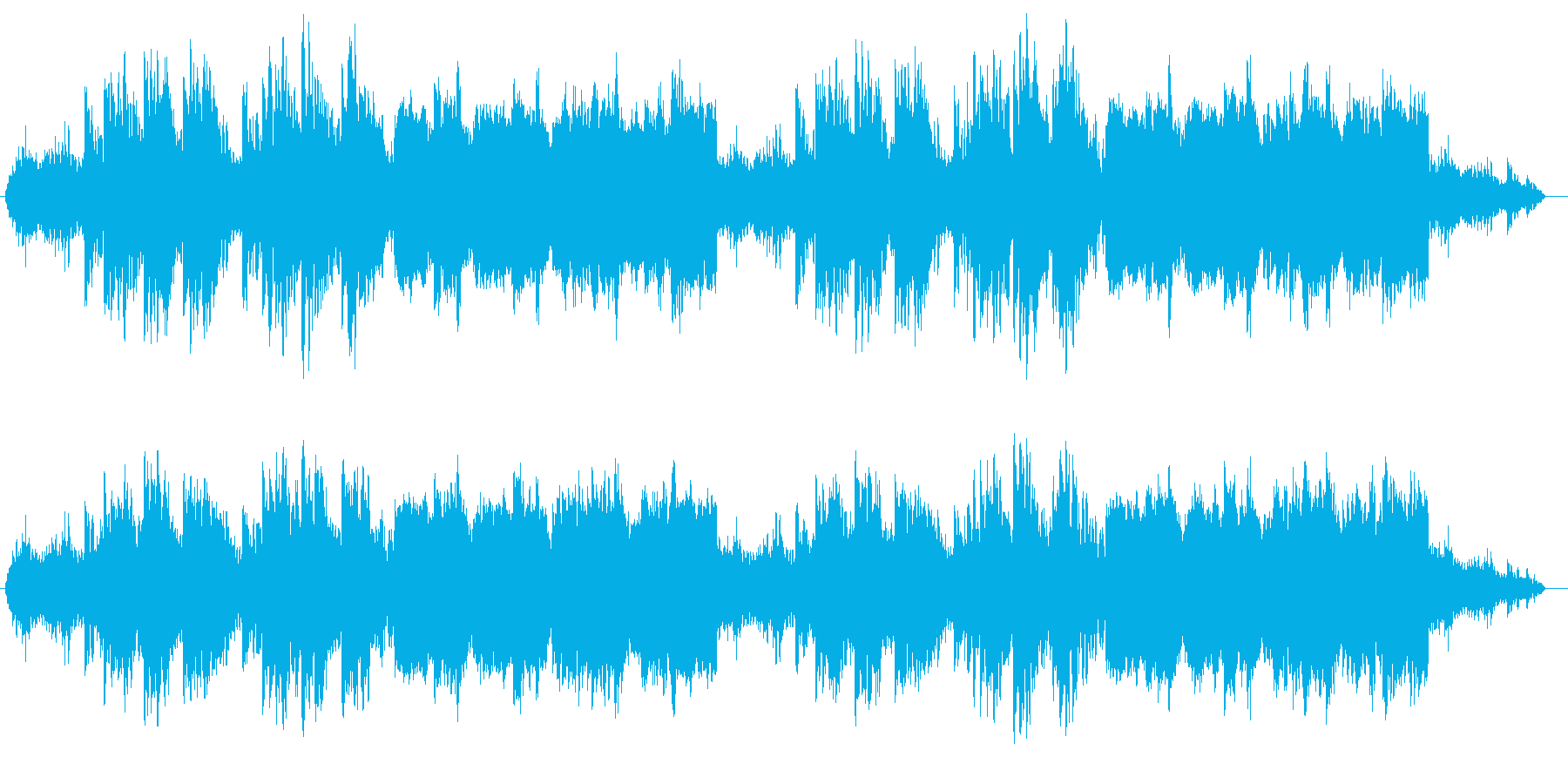 RPGの神秘的な森をイメージしたBGMの再生済みの波形
