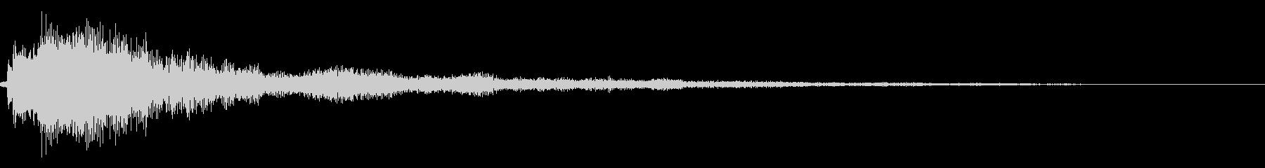 シンプルな決定/ボタン/クリック音34bの未再生の波形