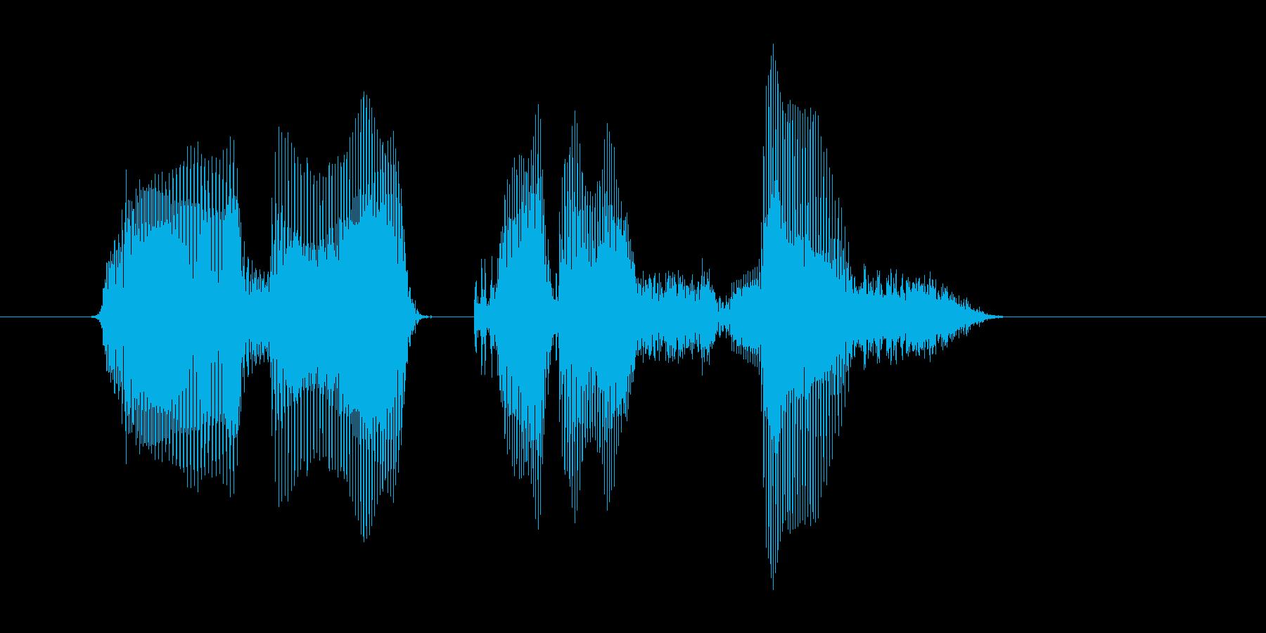 メリークリスマス(男の子)の再生済みの波形