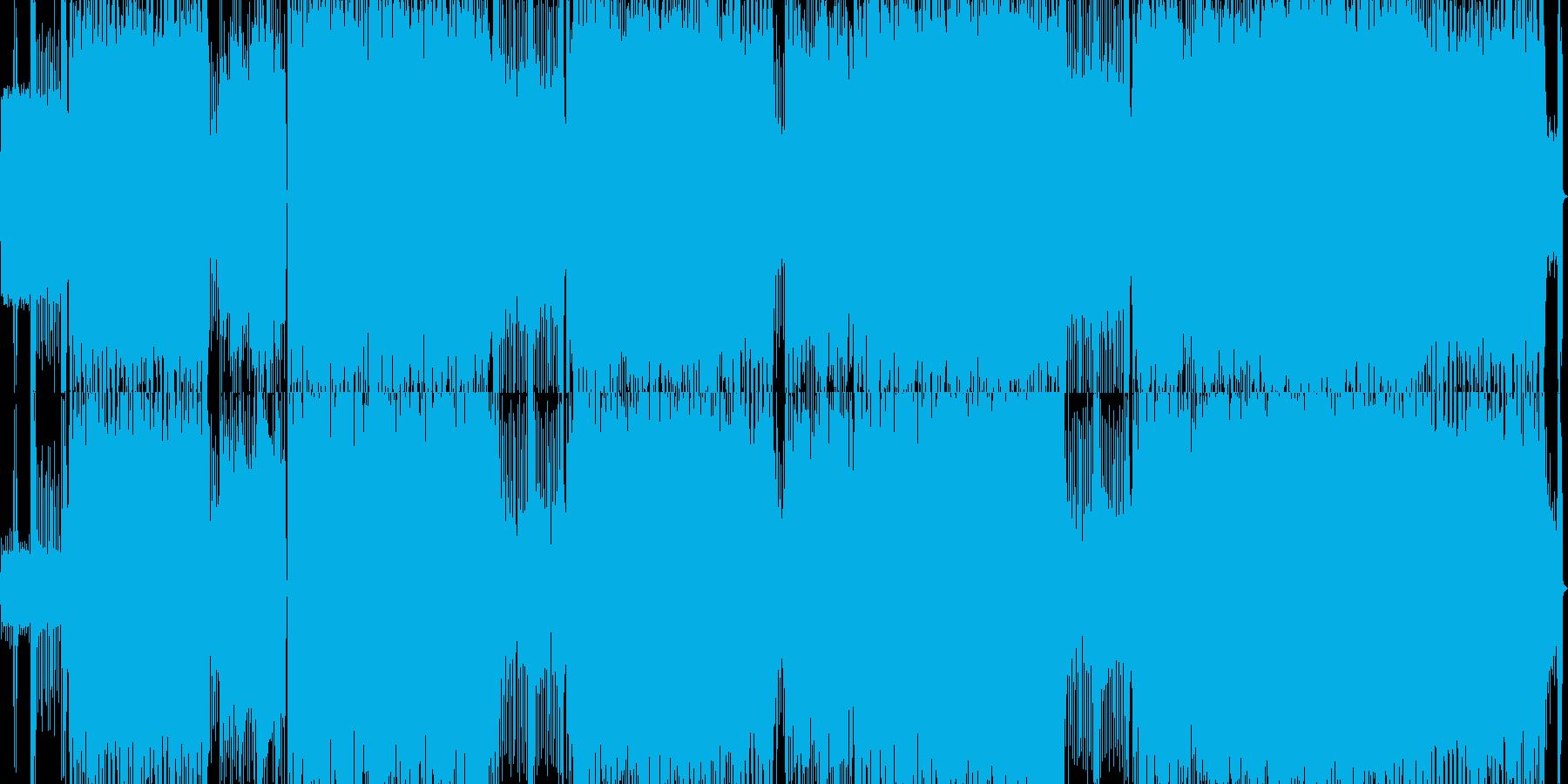 疾走感のある情緒系ロックチューンの再生済みの波形