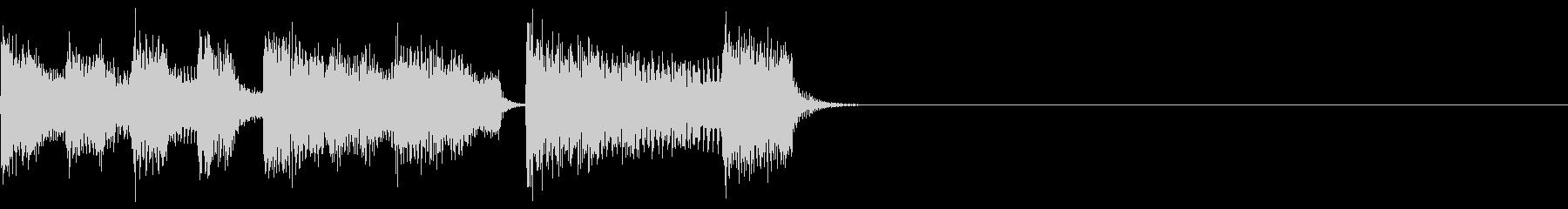 レトロでエレクトロなサウンドロゴの未再生の波形