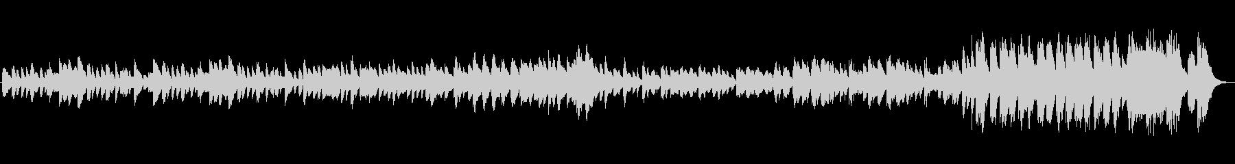 ハープのクラシック風の曲の未再生の波形