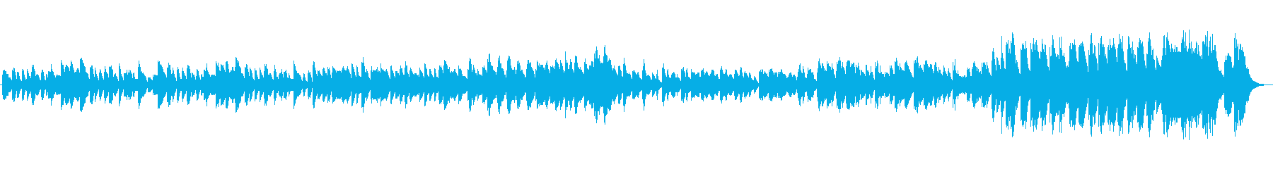 ハープのクラシック風の曲の再生済みの波形