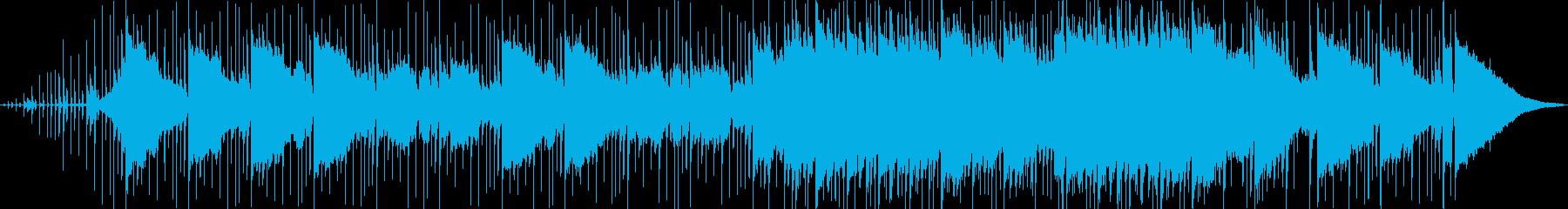 静けさの中から感動が湧き上がるBGMの再生済みの波形