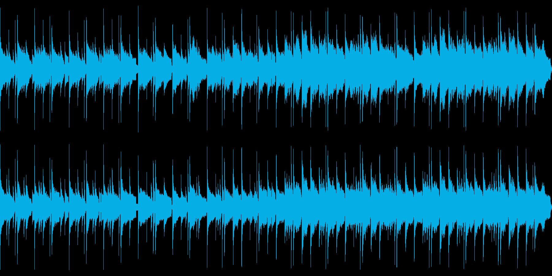 琴でゆったり透明感のある和風曲(ループの再生済みの波形
