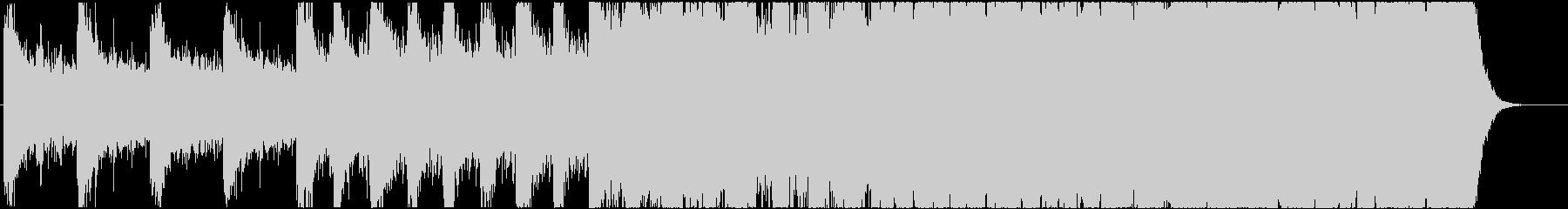 緊迫感のあるシネマティック曲 1-1の未再生の波形