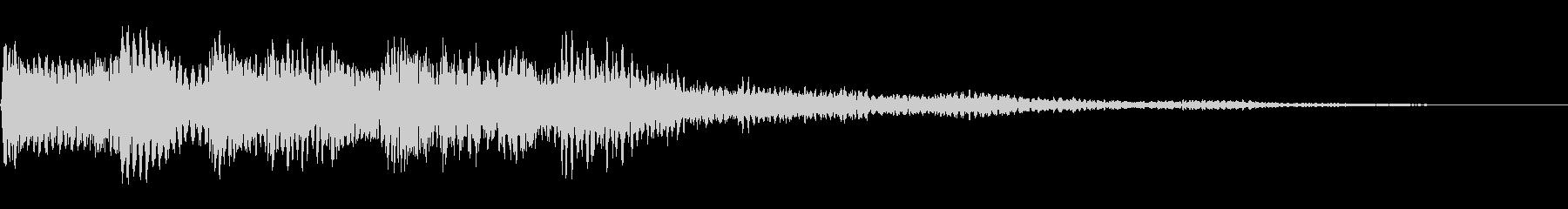 ハープ系の場面転換音 切り替え CMインの未再生の波形