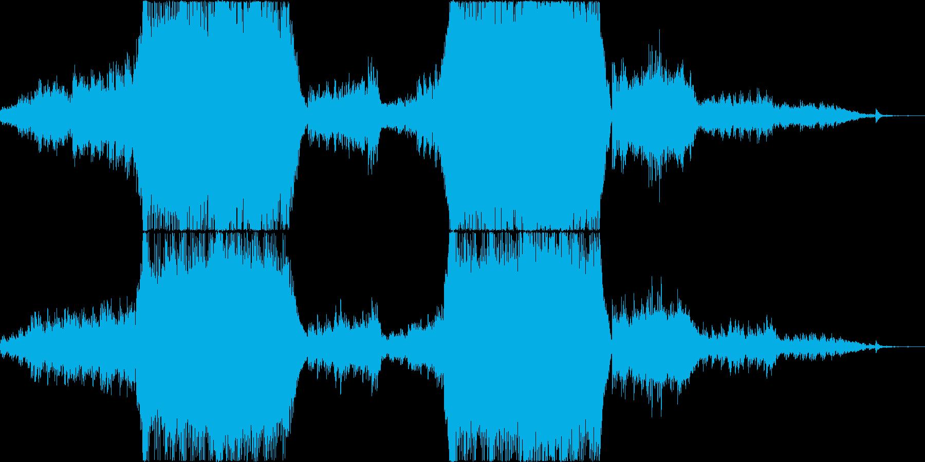 映像映えのする感動壮大系オケの再生済みの波形