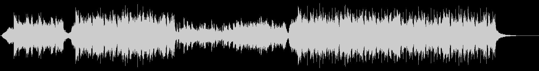 ピアノとストリングスのシンセポップの未再生の波形