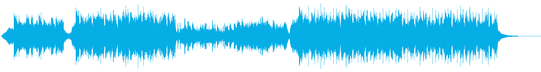 ピアノとストリングスのシンセポップの再生済みの波形