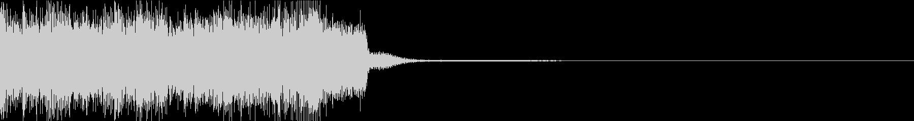 バトル直後向けエレクトロニカジングルの未再生の波形