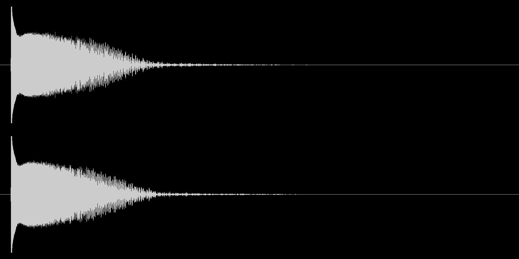 クラブ系 決定音09(プチュン)の未再生の波形