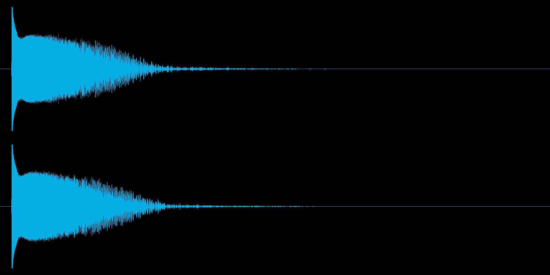 クラブ系 決定音09(プチュン)の再生済みの波形