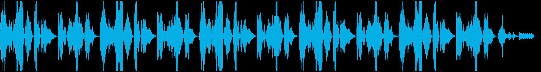 勇壮なトランペットのファンファーレBGMの再生済みの波形