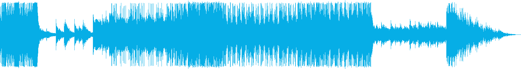 未来的なイメージを演出するエレクトロニカの再生済みの波形
