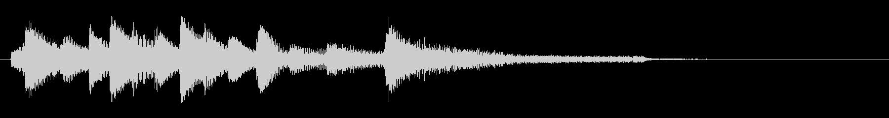 和風ピアノサウンドロゴ_ジングル6秒の未再生の波形