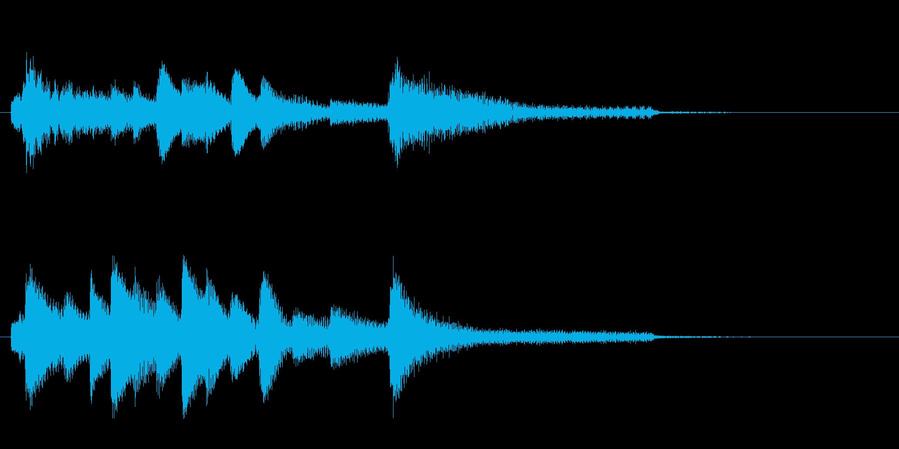 和風ピアノサウンドロゴ_ジングル6秒の再生済みの波形