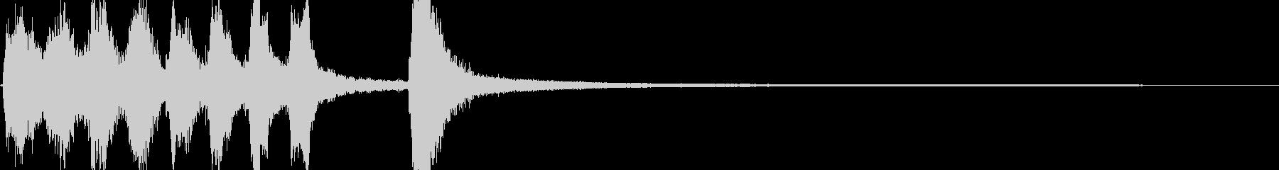 短いシンキングタイムイメージのジングルの未再生の波形