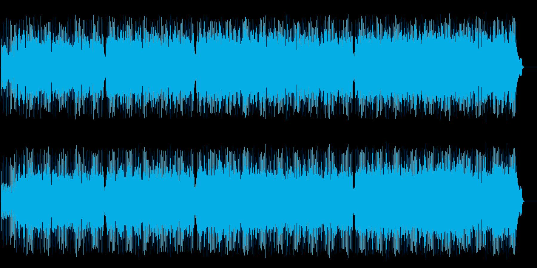 爽やかなサンバ風ポップ・フュージョンの再生済みの波形