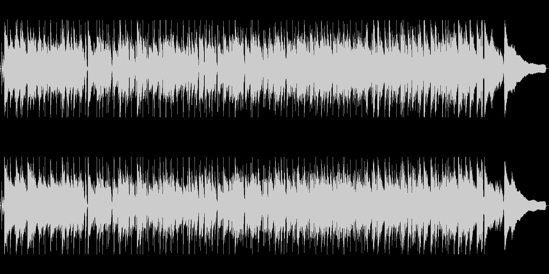 明るい前向きなピアノジャズの未再生の波形