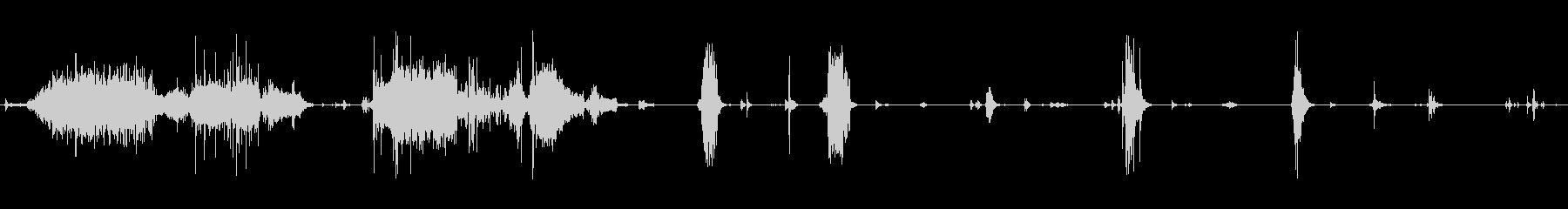 汁気のある食べ物を食べる音(01)の未再生の波形