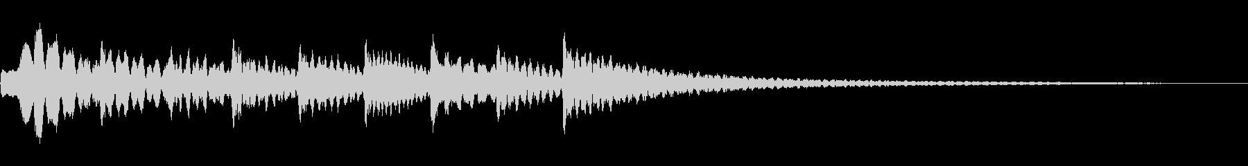 マリンバの明るいジングル・アイキャッチの未再生の波形