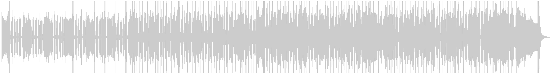 とにかくシンプルなギターのスローブルースの未再生の波形