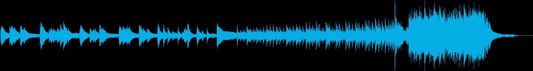 切ないピアノから後半はリズミカルの再生済みの波形