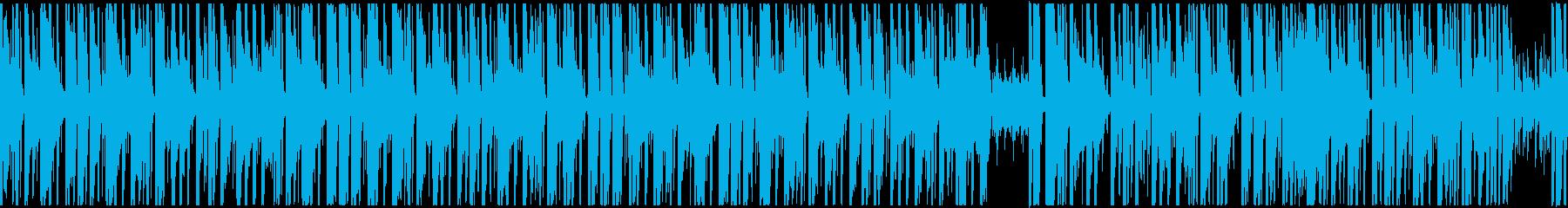 【ループ】怪しい雰囲気のTrapトラックの再生済みの波形