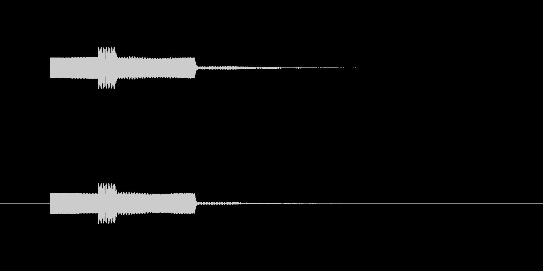 ピンポン 正解音の未再生の波形