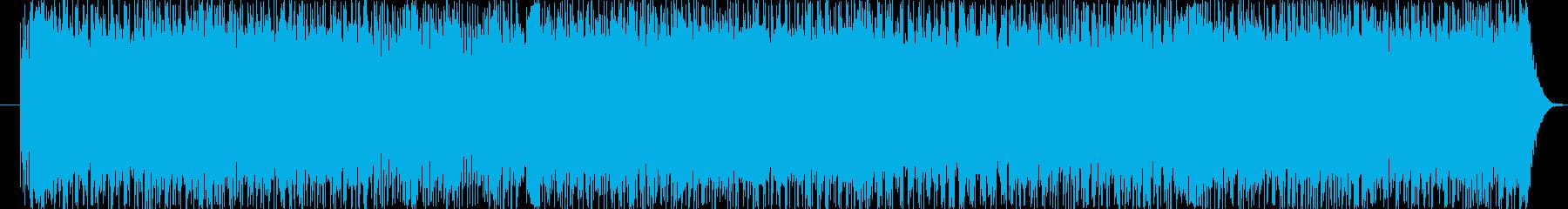 速いテンポのロック系サウンドです。の再生済みの波形