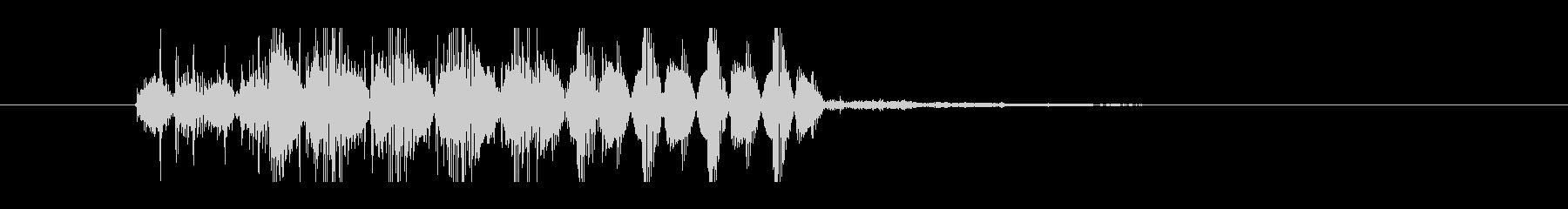 ジリジリした不快感のあるノイズ音の未再生の波形