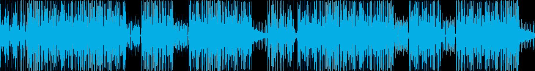 未来感のあるテクスチャー系ドラムループの再生済みの波形