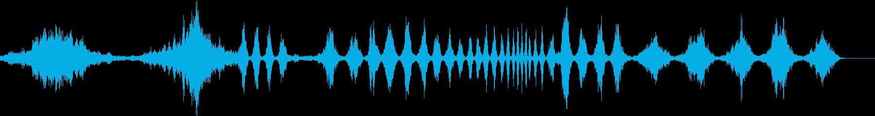 さまざまな旋回スペーススウェーシュ...の再生済みの波形