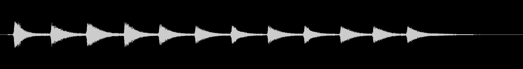 カッコウ時計2の未再生の波形