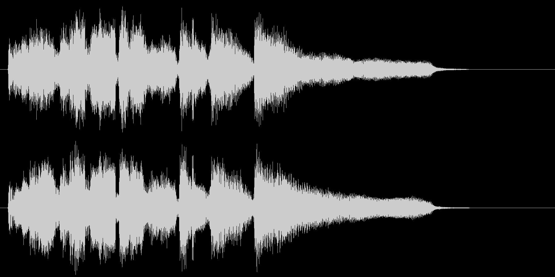 スマートなサックスのジャズ系ジングルの未再生の波形